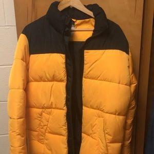 Yellow winter coat